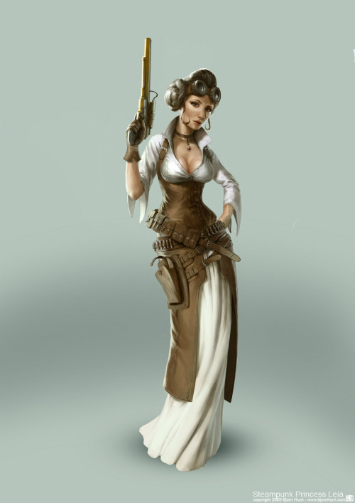 geekhideout:  Princess Leia Steampunk it is (by Bjorn Hurri)