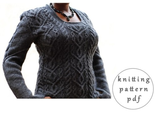 Lillian Sweater Original PDF Knitting Pattern by ablackpepper Ravelry Link: Lillian