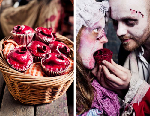 therealdelice:  Be my bloody Valentine cupcakes :)  One for the more cynical amongst you.