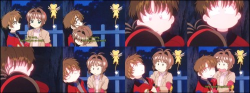 I think this is the first time Syaoran really, really blushed because of Sakura. KAWAII! :3  Card Captor Sakura episode 27Sakura and the Shrine of Memories