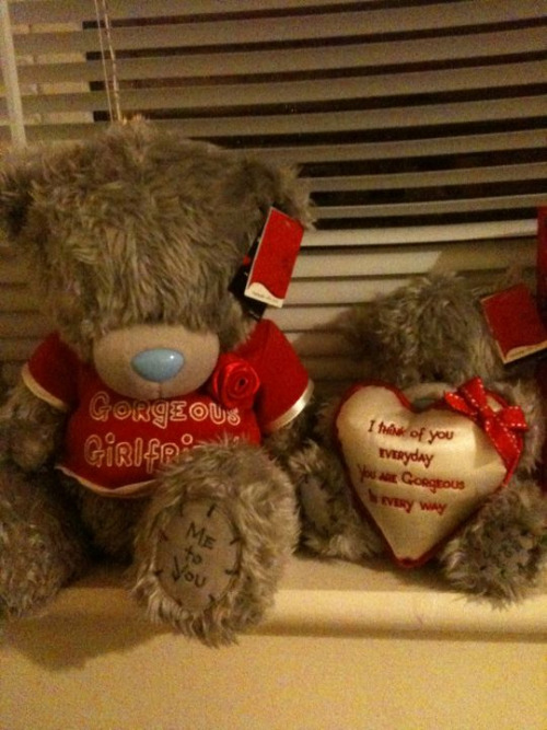 The teddies Mikey got  me for valentines day :-)