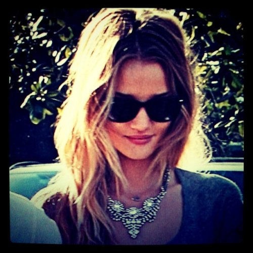 dannijo:  Rosie-Huntington Whitley looking gorgeous as always in DANNIJO Vala necklace
