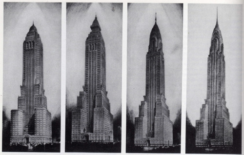 archimaps:  Van Alen's evolution of the Chrysler Building, 1928-29, New York