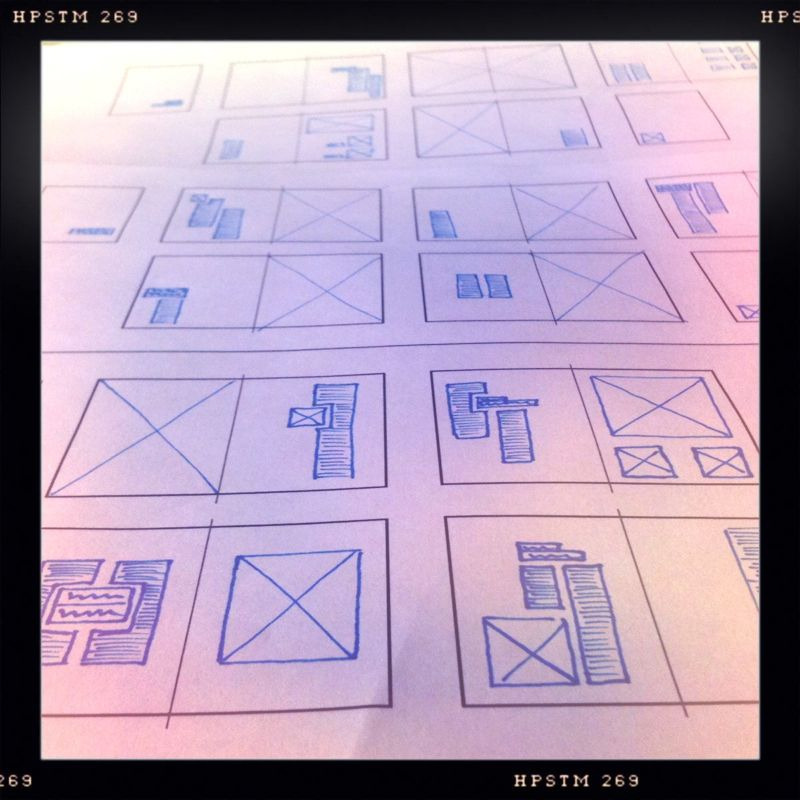 The process sometimes requires layout sketches.