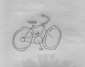This drawing is from an anonymous retired Teacher who bikes regularly in Kanawha State Forest, WV