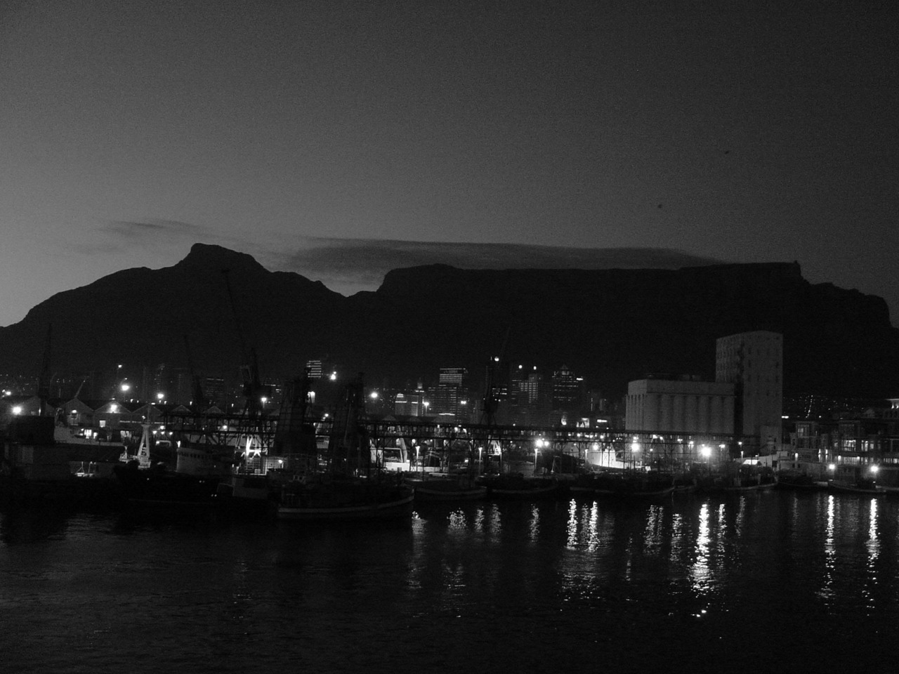 Cape Town at night.