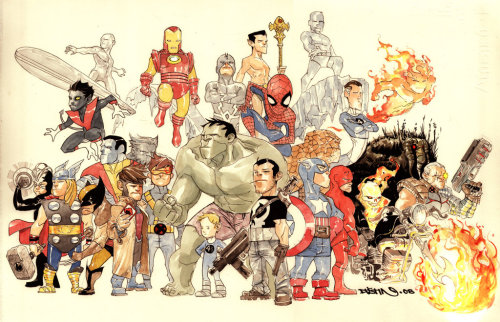 herochan:  A Little Love for Marvel - by  Dustin Nguyen Website || deviantART || Herochan
