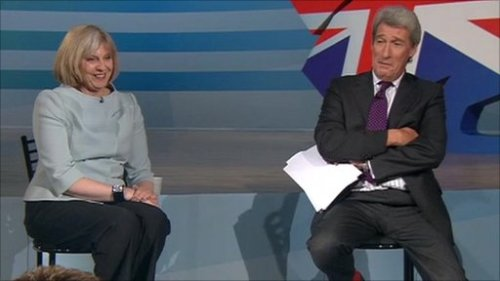 Paxman pulls no punches in his assessment of *that* space suit, but Theresa saves her blushes with a classical fixed grin.