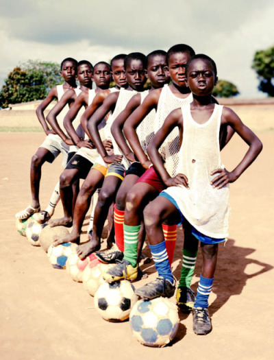 "It must be football season somewhere. ""Ivory Coast,"" by Luca J Sage, 2010. For sale here."