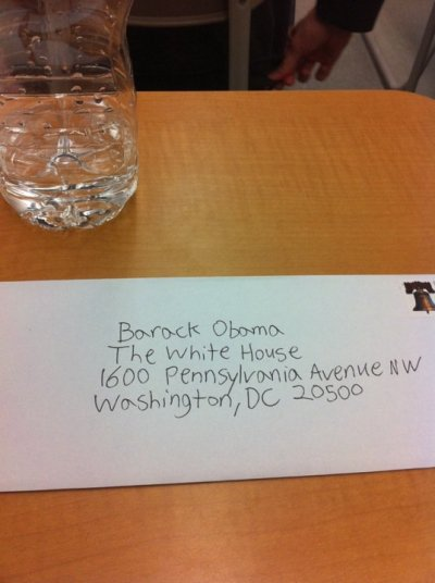 Kid in my class gave us these letters to send to Obama urging him to legalize marijuana.