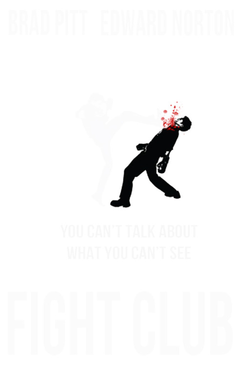 littlemovienerd:  Fight Club by Scott O  (tilt your screen back…)