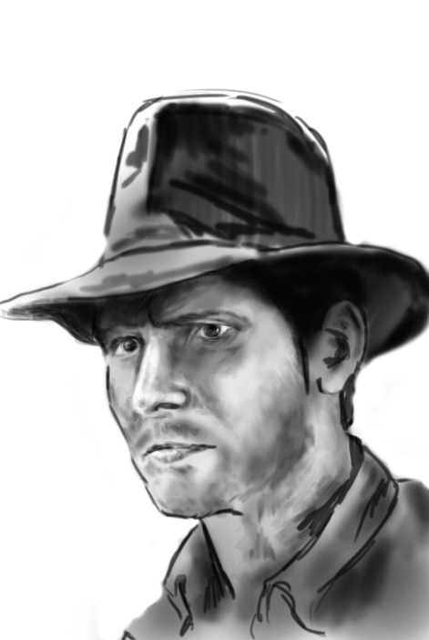 Just felt like sketching Indy.