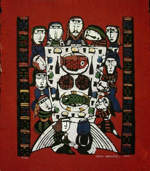 printsandthings:  Sadao Watanabe  - The Last Supper,1966