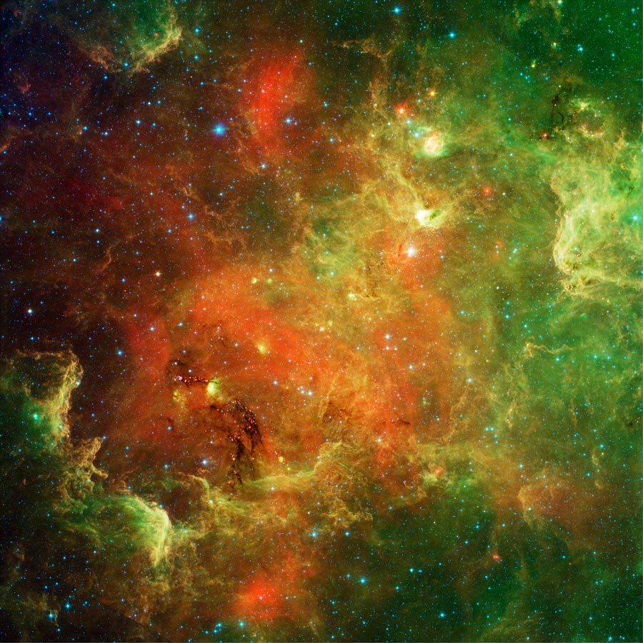 APOD: 2011 February 15 - The North America Nebula in Infrared