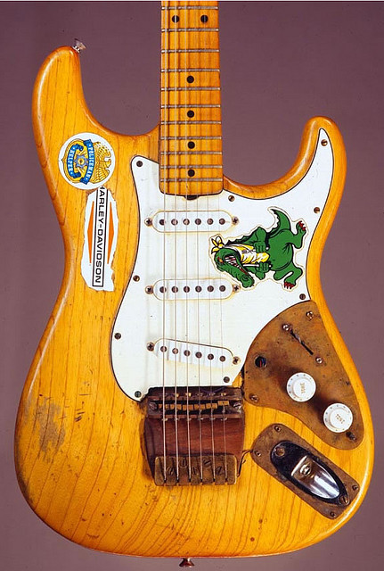 "Jerry Garcia's 1957 ""Alligator"" Fender Stratocaster. Garcia used it from 71 to 73."
