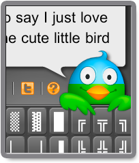 Feather iOS App - The Twitter bird turns slowly green as you type and goes red when you get to the 140 character limit. /via Anna PS