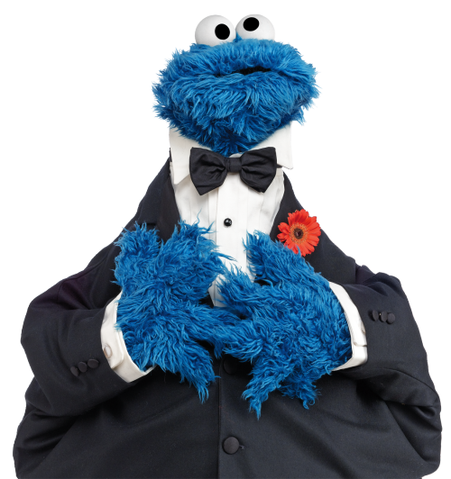 sesamestreet:  Cookie Monster's been on Saturday Night Live.  TONIGHT, he'll be judging TOP CHEF (!) with his friends Elmo and Telly.   What should Cookie Monster do next?