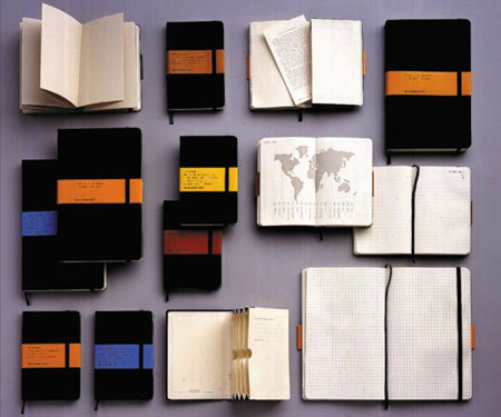 thingsorganizedneatly:  Moleskine Notebooks  Obsessed.