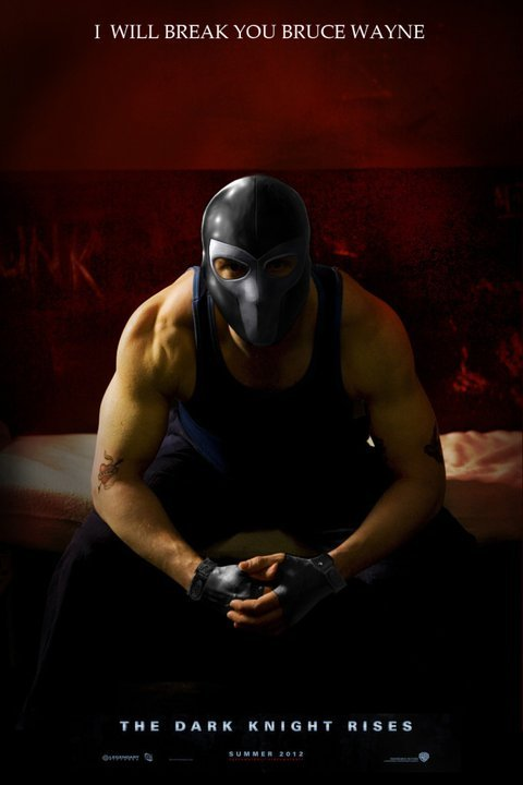 apiphile:  livelongand-prosper:   Tom Hardy as Bane Urghh can it be Summer 2012 already  i am slightly indignant that they have covered his face.  I can't wait :D. This year I'm definitely going to try to read more comics so I can feel like I actually have a decent background on the characters :3. It would be good to see his face, there's plenty of time for them to release more posters though :).