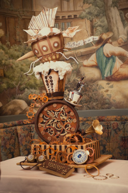 Victorian Steampunk Wedding Cake | Rock n Roll Bride