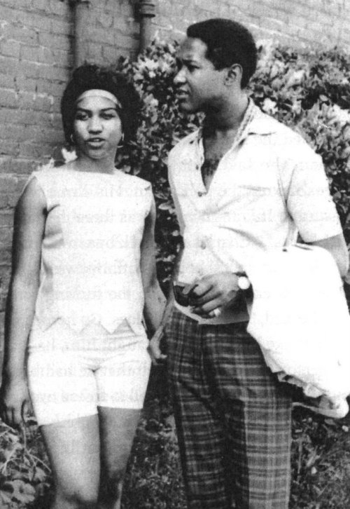 arethalouisefranklin: A very young Aretha with her biggest crush (and musical idol), Sam Cooke, possibly an early 1960s photo (1963, 1964-ish).