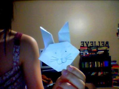 Random interest in Origami. This is my bunny, Henry VIII. :3