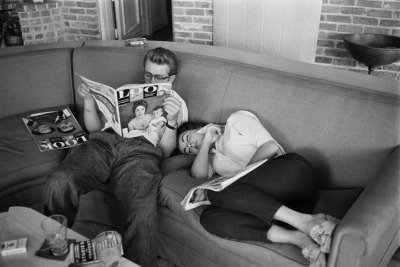 Soon, I'll have a picture like this. 8) (James Dean & Elizabeth Taylor)