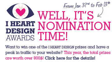 I have been nominated in the…  I HEART DESIGN awards :: Nominees :: Best Illustrator category,would you please follow this link and vote for me!  Thank You!  http://blog.roseflash.ca/2011/02/i-heart-design-awards-nominees-best-illustrator/