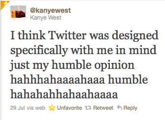 voodooized:  i just really, really love kanye's twitter