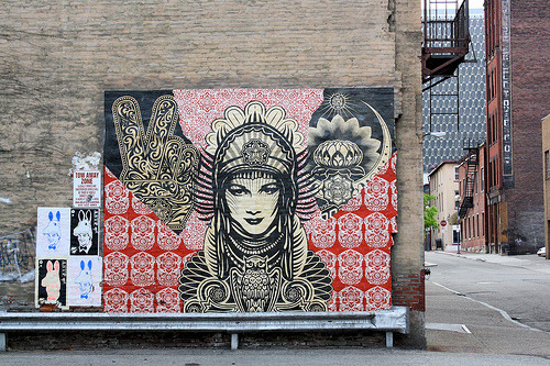 ithinkwegrewup:  Shepard Fairey murals are quite possibly my favorite part about Pittsburgh