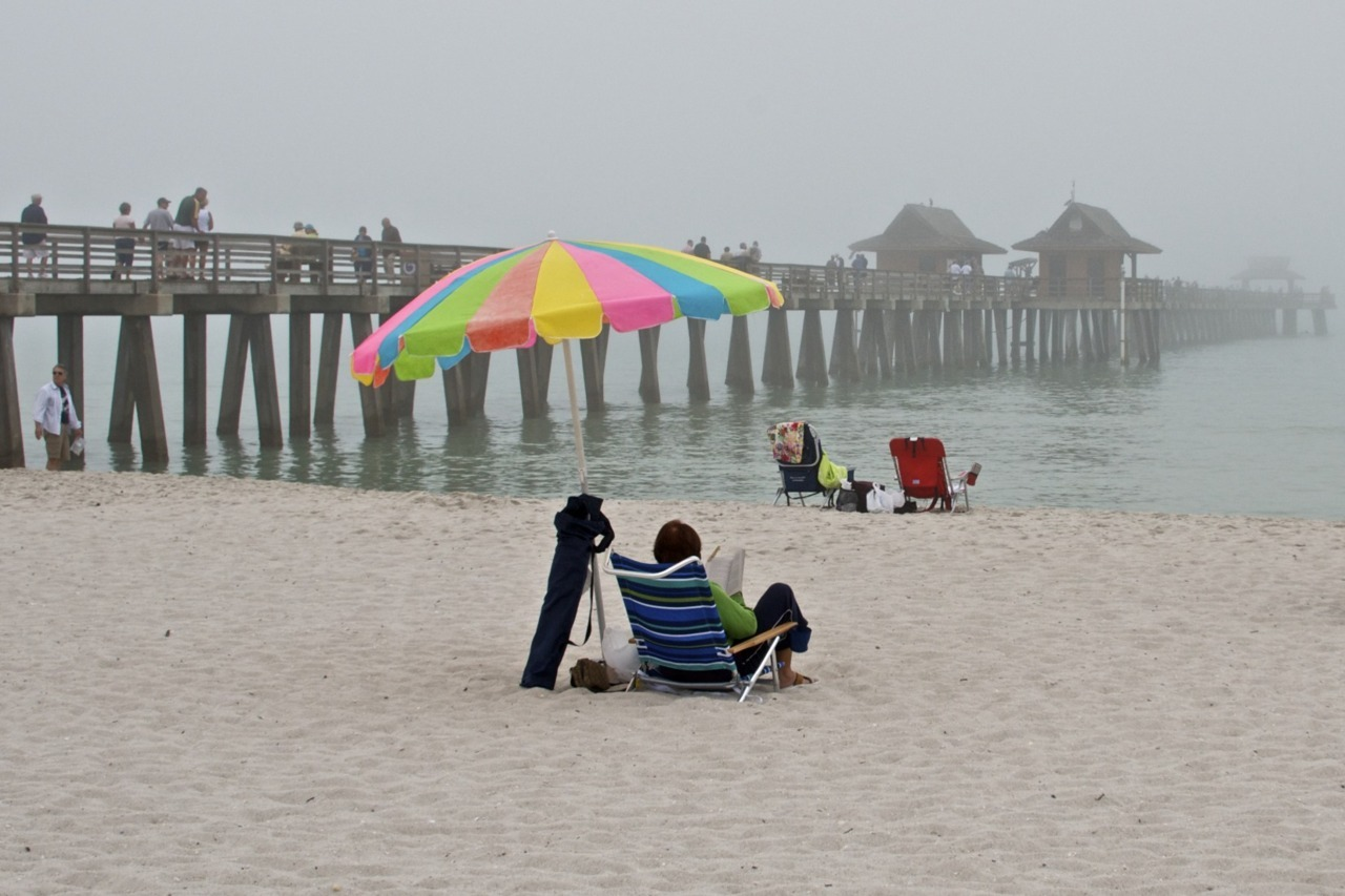 Naples, FL -  Another foggy day at the beach