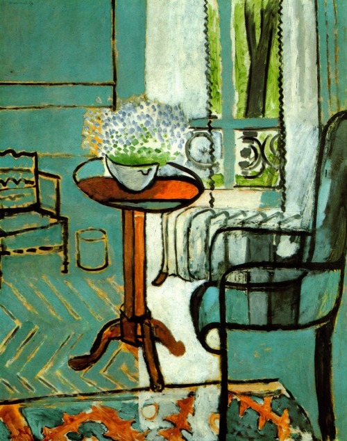 "Henri Matisse, The Window, 1916 (The Detroit Institute of Arts).  John Ashbery writes:    I of course don't mean that you are a moonstruck dreamer, but that they do exist, outside of you, without your having to do anything about it. Even if you do something it won't matter. And it is possible that you will always remain unaware of their existence; this won't matter either, to them, that is. But you must try to seize the truth of this: whatever was, is, and must be. The darkness that surrounds you now does not exist, because it never had any independent existence: you created it out of the spleen and torment you felt. It looks real enough to hide you from the light of the sun, but its reality is as specious as that of a mirage. The clouds are dispersing. And nothing comes to take their place, to interpose itself between you and the reality which you dreamed and which is therefore real. This new arrangement is already guiding your steps and indicating the direction you should take without your realizing it, for it is invisible now; it still seems that it is lost for there is of course no tangible evidence of it: that happens only once, it is true. But now to have absorbed the lesson, to have recovered from the shock of not being able to remember it, to again be setting out from the beginning – is this not something good to you? You no longer have to remember the principles, they seem to come to you like fragments of a buried language you once knew. You are like the prince in the fairy tale before whom the impenetrable forest opened and then the gates of the castle, without his knowing why. The one thing you want is to pause so as to puzzle all this out, but that is impossible; you are moving much too quickly for your momentum to be halted. How will it all turn out? What will the end be? But these are questions of the ignorant novice which you have forgotten about already. You think now only in terms of the speed with which you advance, and which you drink in like oxygen; it has become the element in which you live and which is you. Nothing else matters.     Extract from ""The System"", first published in Three Poems in 1973."