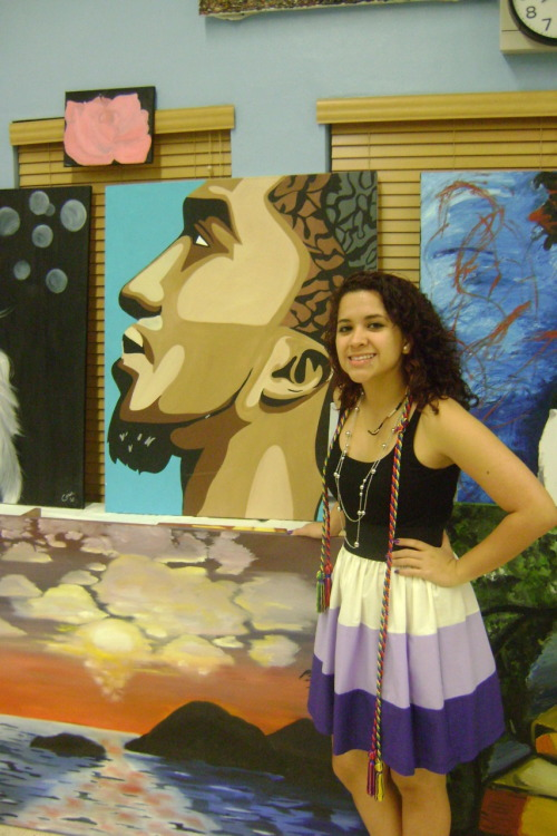 last year at the art show with my kid cudi painting