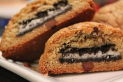 oreo-stuffed chocolate chip cookies!