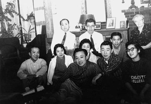 Korean student social gathering. Macalester College, St. Paul 1955-1956. (Minnesota Historical Society) The first Koreans to settle in Minnesota in significant numbers arrived during and after the Korean War (1950-53) and included students, wives of American servicemen, and war orphans adopted by American families. Since the end of the Korean War, thousands of American families have adopted more than 120,000 Korean babies and children—roughly 1 out of every 10 Korean Americans are adoptees. One of the largest concentrations is in Minnesota; while there are no definitive statistics, it's estimated that roughly half of Minnesota's Korean population of about 35,000 is adopted.