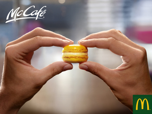 helloyoucreatives:  Its like MacDonalds only smaller.  Wow, McDonald's in France sells macarons? Smart.