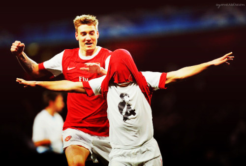 Arshavin's celebration after scoring winning goal. Quoting @arseblog - 'he's shh-ing from his own chest'