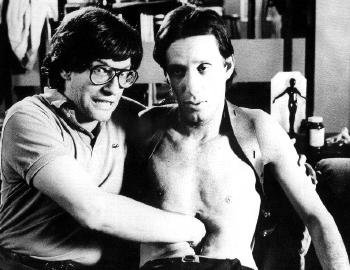 greggorysshocktheater:  David Cronenberg directs James Woods' internal organs in this behind the scenes pic from Videodrome (1983)