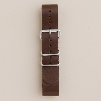 "J.Crew has free shipping on all their watch straps right now (and their overpriced Timex) and I'm thinking about picking up a few. Has anyone had any experience with the leather NATO straps at J.Crew? Are they thin enough to slip through ""skinnier"" widths between the pins and bezel?"