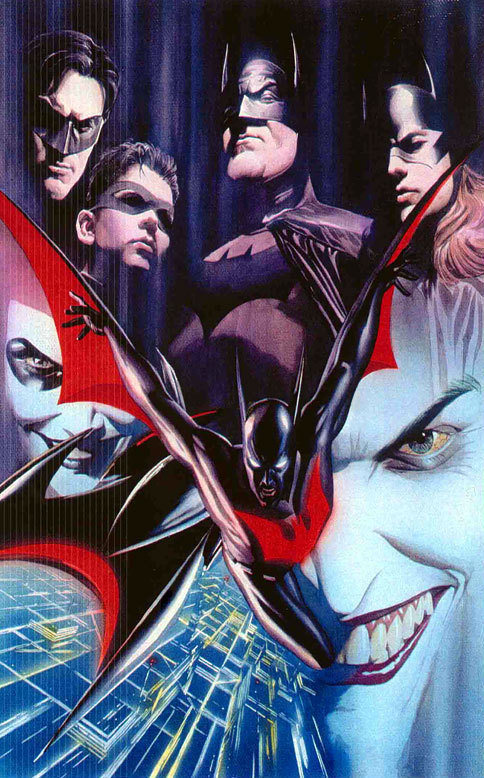discowing:  DCAU Bats by Alex Ross. They all look a little creepy except Timmy.