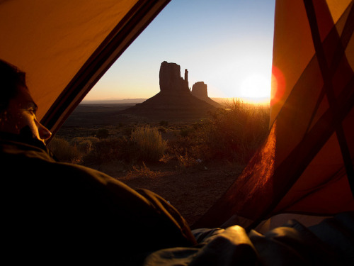 fuckyeahhiking:  i think opening your tent to sunrise is one of the best feelings/sights in the world.