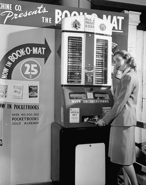 flavorpill:  The Book-O-Mat vending machine from 1949 via Boing Boing