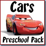 1+1+1=1: Cars Preschool Pack