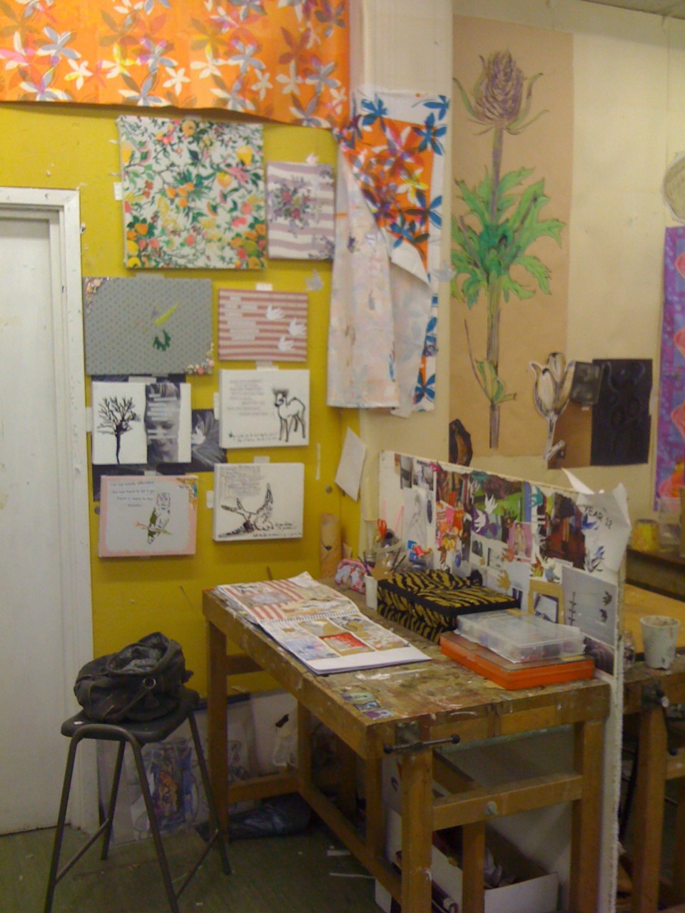 my art space at school, I've made it my own :)