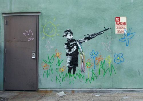 Crayon Shooter - New Banksy in Westwood