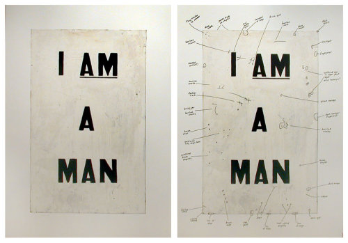 Glenn Ligon - Condition Report, 2000 (@ Luhring Augustine, NYC - via halfmongrel)