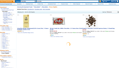 "Amazon - When you click ""next page"" while viewing search results, it instantly shows the first three while loading the remainder. /via Brandon Benvie"