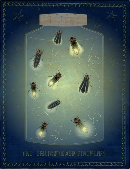 bookspaperscissors:  The Enlightened Fireflies by johnwgolden