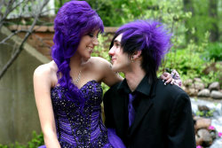 My boyfriend and I right before we went to my senior prom. <3