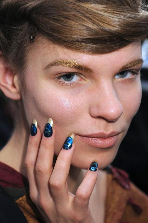 The Jen Kao nails on a model. Via Lesleykat